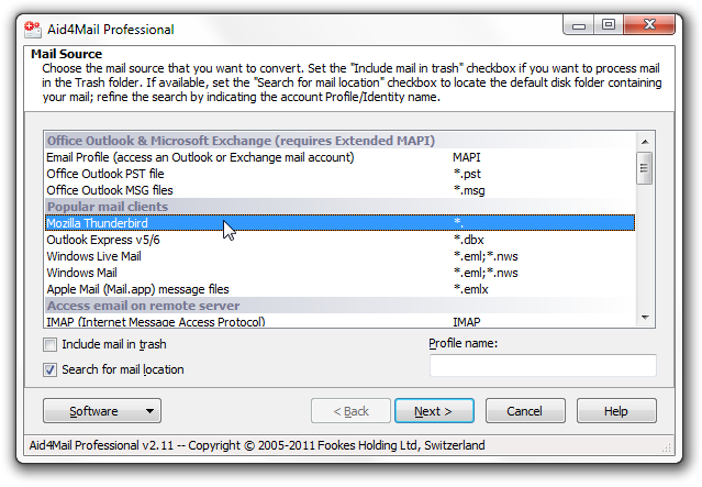 export Thunderbird to Outlook step 3