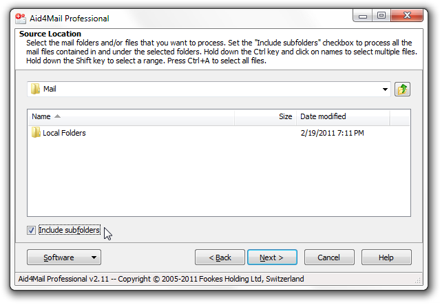 export Thunderbird to Outlook step 4
