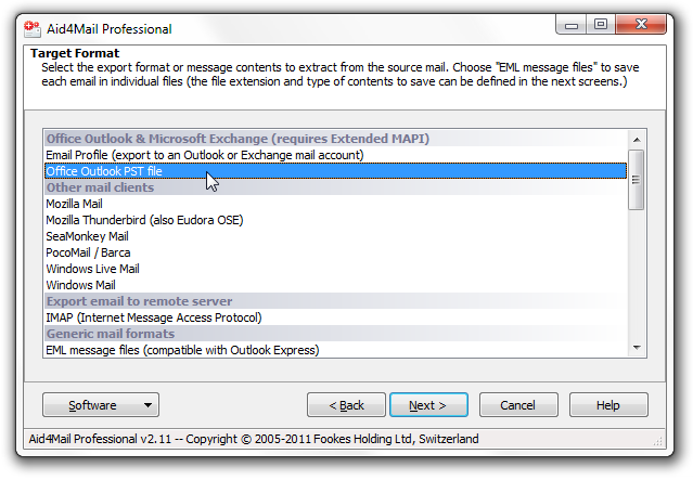 export Thunderbird to Outlook step 5