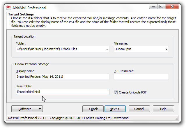 export Thunderbird to Outlook step 6