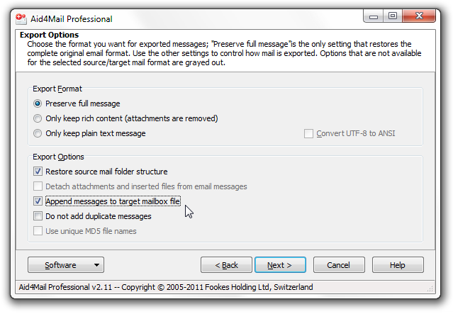 export Thunderbird to Outlook step 7